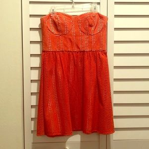 Super cute Parker strapless dress!